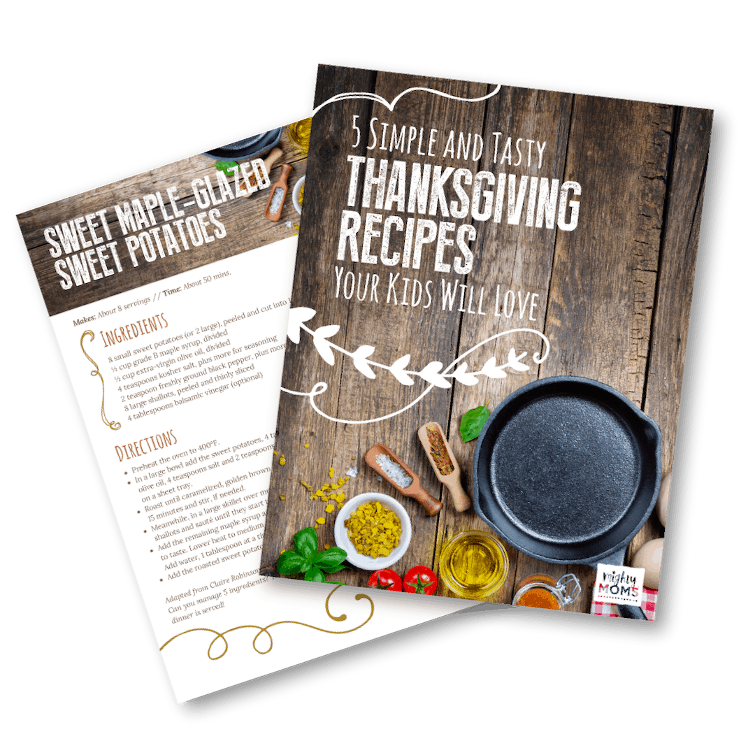 This free Thanksgiving recipe booklet is sure to please the kids! MightyMoms.club