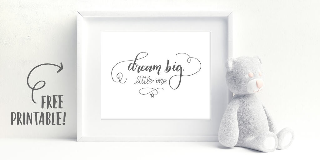 This gorgeous nursery printable is free for you to download and print.