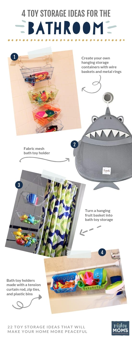 4 Clever Solutions to Storing Toys in the Bathroom - MightyMoms.club