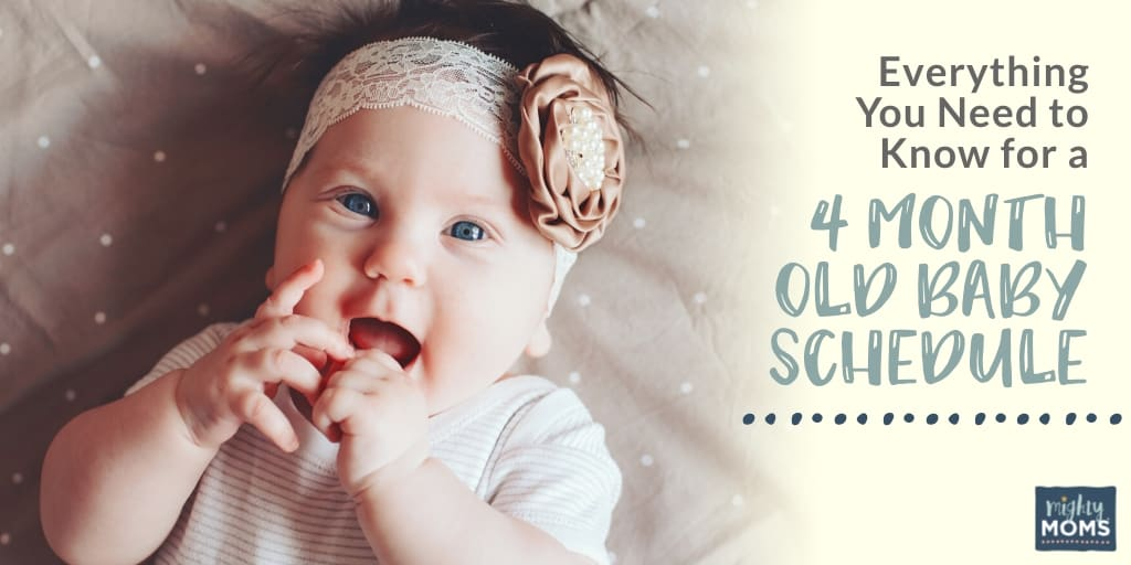 4 month old baby schedule free sample