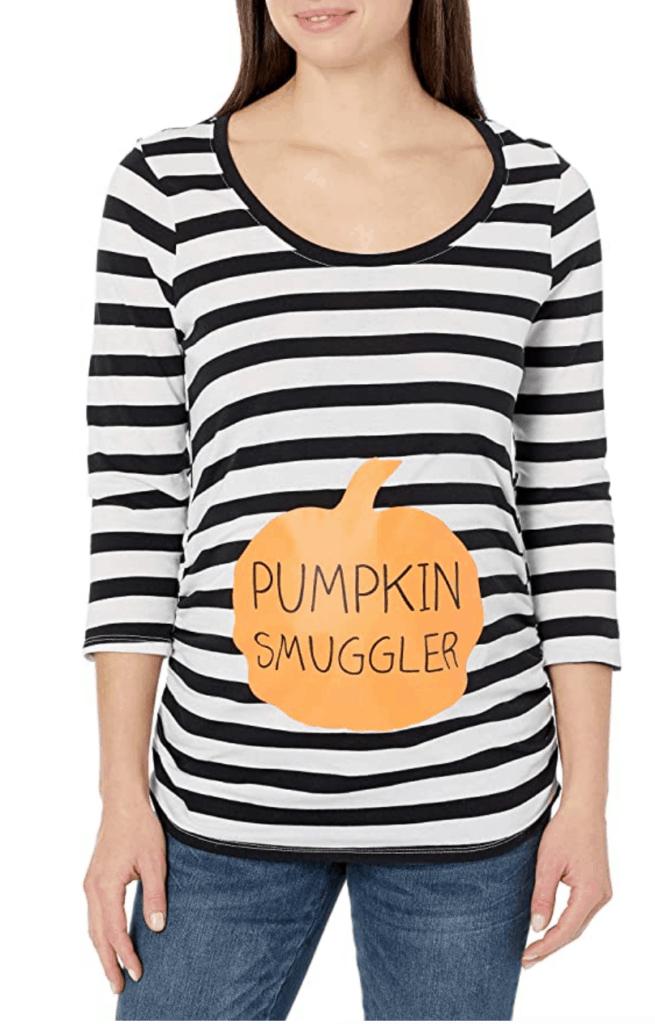 Pumpkin Smugglers Maternity Halloween Shirt