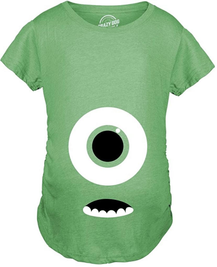 Monsters Inc Maternity Halloween Shirt